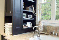 Bathroom counter storage -- dreams CAN come true!!!