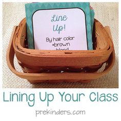 Ideas for Lining Up Your Class from PreK and Sharing