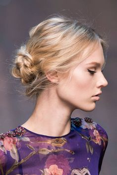 Runway inspired hairstyles for hitting the gym.