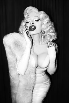Fashion Icon and Famous Amanda Lepore New York wears Danny Deluxe latex dress and long gloves! Shot by Josef Jasso! Now in OUT Magazine - Los Angeles  www.dannydeluxecouture.com  #amandalepore #dannydeluxecouture #dannydeluxe #outmagazine #lorenzodiazhair #blondebombshell #oldhollywoodglamour