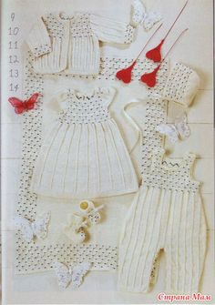 more knitted baby clothes patterns dress, jacket cardigan bonnet booties overall