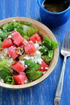watermelon and feta salad, watermelon feta, breakfast, sweet lime, drink, lime vinaigrette, summer salads, limes, watermelons