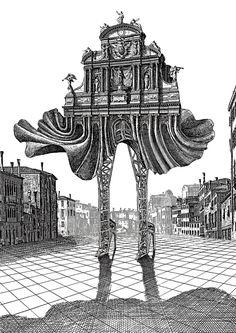 """From """"Les Dessous de la ville"""" by Francis Masse (1985)"""