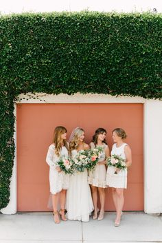 Bridesmaids || See more of this naturally chic wedding on Style Me Pretty: http://www.StyleMePretty.com/2014/02/24/garden-wedding-at-the-darlington-house/ Photography: John Schnack