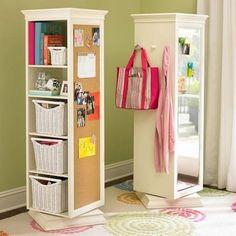 Cool bookshelves. Multi-use