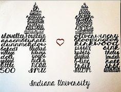 Indiana University Sample Gates by Quickvites on Etsy, $20.00