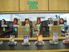 This is a fantastic idea!! Match Your Mood teen book display :)