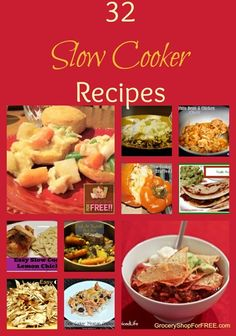 32 Slow Cooker Recipes!