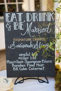 chalkboard wedding menu ideas http://www.weddingchicks.com/2013/09/17/backyard-style-wedding/