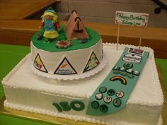 Girl Scout Cake - I made this cake for the Girls Scouts yearly birthday party for the founder, Juliette Low.  It was for about 200 people.