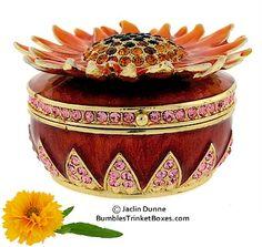 Trinket Box: Flower- Sunflower
