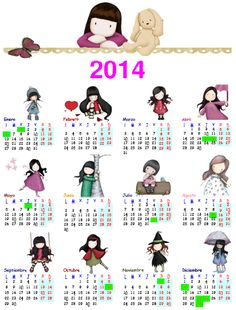 FREE printable 2014 calendar (spanish)