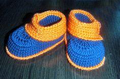 Crochet patterns (PDF) - Baby Boy Booties - Pattern  number 14