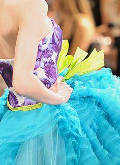big skirt, small bodice, bright colours