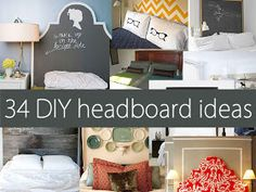 Easy Home DIY And Crafts: 34 DIY Home Decor Headboard Ideas