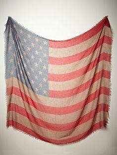 Free People Tattered Flag Scarf, $38 #fourthofjuly