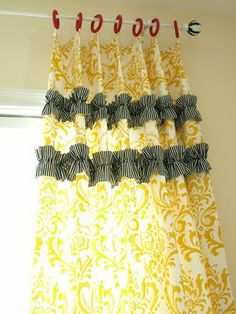 cute curtains, though I would make them in a different color.