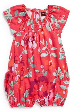 Tea Collection 'Desert Rose' Bubble Romper (Baby Girls) available at #Nordstrom $30 GOT IT NB