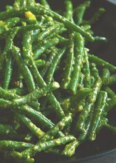 Green Beans with Pistachio Pesto
