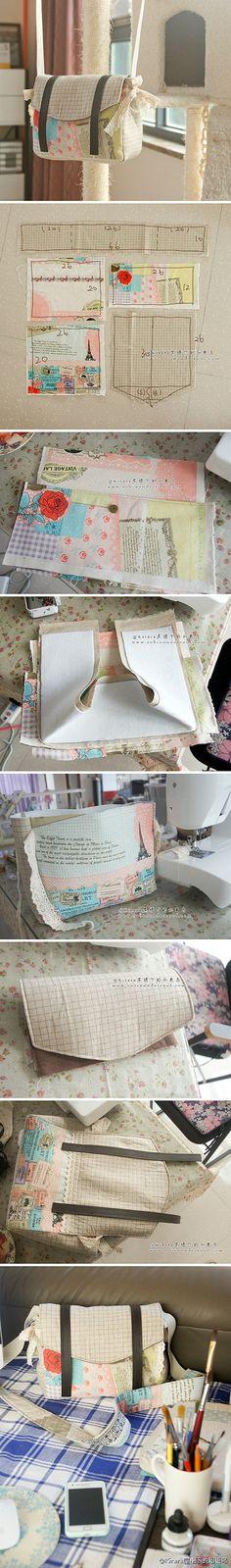 DIY patchwork bag sewing pattern