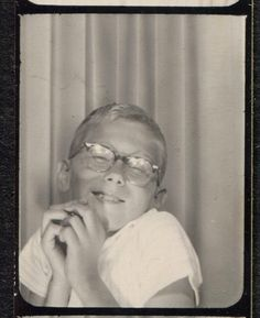 ** Vintage Photo Booth Picture **   Such a funny boy!  Wish I could see the rest of his pics.