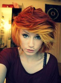 orange & blonde ombre c: