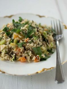 Wild Rice Salad with Lemon-Tahini Dressing