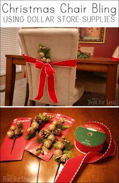 Easy Christmas Chair Bling