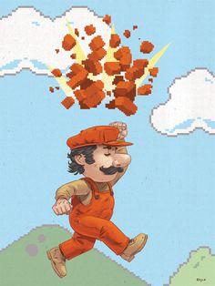 Mario, artwork by James Boyle