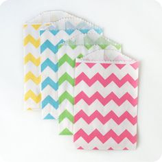 Chevron Striped Bags - NEON MIX