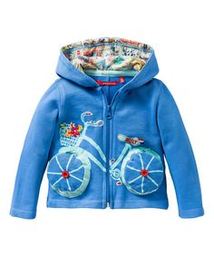 Another great find on #zulily! Blue Bicycle Zip-Up Hoodie - Toddler & Girls by Oilily #zulilyfinds