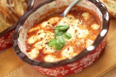 Baked Mozzarella and Tomato-Basil Spread