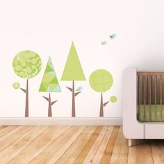 Trendy Peas fabric wall decals