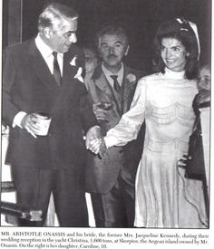 Mr Aristotle Onassis and his bride the former Mrs Jacqueline Kennedy 1968