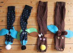 ¡A jugar con marionetas de calcetines! #manualidades #DIY
