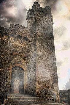 Medieval Castle, Montalcino, Italy  photo via karen