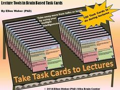 Use these whole brain task cards – to activate learning on any topic. Turn talks or texts into tasks that engage students and apply content....