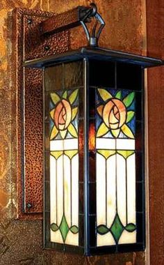 1920s stained glass on pinterest charles rennie for Art deco porch light