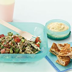22 Healthy Lunch Ideas | Tabbouleh with Chicken and Red Pepper | CookingLight.com