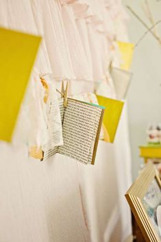 Vintage books Baby Shower banner!  See more party planning ideas at CatchMyParty.com!