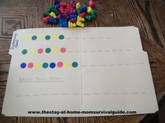 Color Bear patterns folder game: The Stay-at-Home-Mom Survival Guide: Preschool Activities