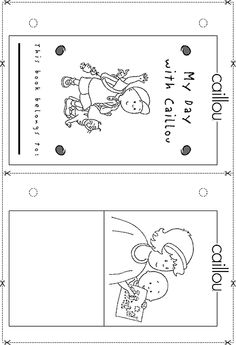 caillou birthday, book printabl, 2nd birthday, parti idea, coloring books
