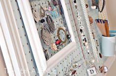 peg board, accessori station