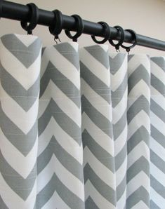 Gray & White Curtains