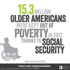There are a lot of good reasons why cuts to Social Security should be off the table! Here's an excellent one – learn more at www.nwlc.org/povertydata.