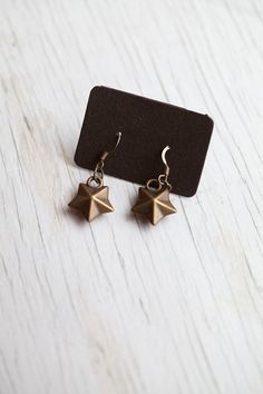 Star earrings $8