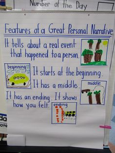 """Oh joy...personal narrative. I like the, """"It shows how you felt"""" line. My kids usually figure it out, but it's a good thing to teach explicitly."""