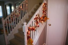 Lighted ragamuffin garland #fall #thanksgiving