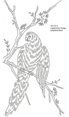 parrot preprinted linen by love to sew, via Flickr