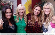 """WHERE ARE THEY NOW? L-R Tanya Memme, host of A&E's """"Sell This House?""""  Sophie Uliano- Author,""""Gorgeously Green,"""" NY Time bestseller?   Shirley Bovshow, designer,co-host, Discovery Home's """"Garden Police?""""   Paige Hemmis, Design/Carpenter, """"Extreme Home Makeover?""""    All of these experts are regulars on Hallmark's """"Home & Family"""" show, airing Mon-Fridays at 10am pst.    Watch """"Home & Family,"""" a unique, home and garden talk show. There's no other show like it! EdenMakers.com"""